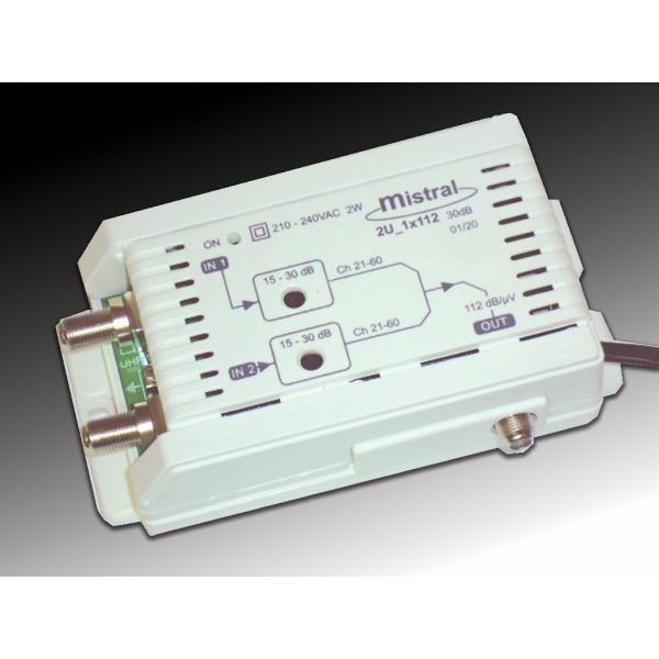 2U 1X112 ενισχυτής κεντρικής στα 30 dB
